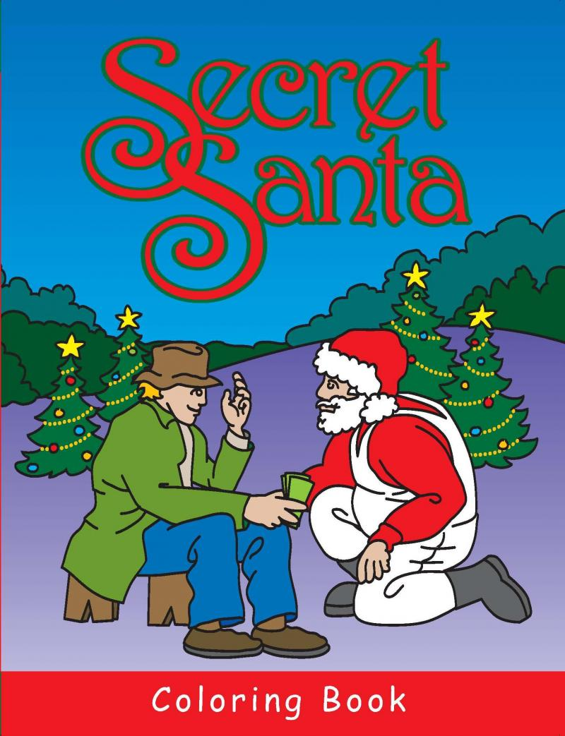 To Bring The Story Of Secret Santa Alive And Make It Easier For Children Understand We Have Published A Childrens Coloring Book